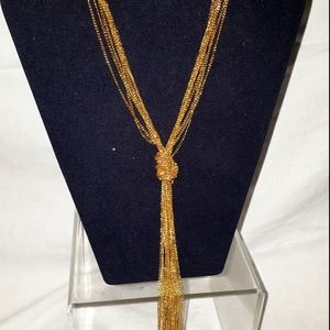 Multi chain gold necklace new